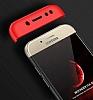 Eiroo Protect Fit Samsung Galaxy J7 Pro 2017 360 Derece Koruma Siyah-Kırmızı Rubber Kılıf - Resim 2