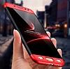 Eiroo Protect Fit Samsung Galaxy J7 Pro 2017 360 Derece Koruma Siyah-Kırmızı Rubber Kılıf - Resim 1