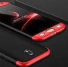 Eiroo Protect Fit Samsung Galaxy J7 Pro 2017 360 Derece Koruma Siyah-Kırmızı Rubber Kılıf - Resim 4