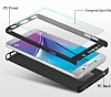 Eiroo Protect Fit Samsung Galaxy Note 5 360 Derece Koruma Kırmızı Rubber Kılıf - Resim 2