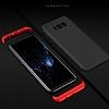 Eiroo Protect Fit Samsung Galaxy Note 8 360 Derece Koruma Lacivert Rubber Kılıf - Resim 4