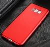 Eiroo Protect Fit Samsung Galaxy S8 360 Derece Koruma Kırmızı Rubber Kılıf - Resim 4