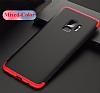 Eiroo Protect Fit Samsung Galaxy S9 360 Derece Koruma Kırmızı Rubber Kılıf - Resim 4