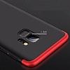 Eiroo Protect Fit Samsung Galaxy S9 360 Derece Koruma Kırmızı Rubber Kılıf - Resim 1