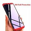 Eiroo Protect Fit Samsung Galaxy S9 Plus 360 Derece Koruma Kırmızı Rubber Kılıf - Resim 1