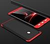 Eiroo Protect Fit Xiaomi Mi Max 2 360 Derece Koruma Siyah-Kırmızı Rubber Kılıf - Resim 1