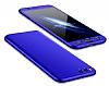 Eiroo Protect Fit Xiaomi Mi Note 3 360 Derece Koruma Lacivert Rubber Kılıf - Resim 6