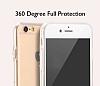 Eiroo Protection iPhone 6 / 6S 360 Derece Koruma Şeffaf Silikon Kılıf - Resim 3