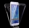 Eiroo Protection Samsung Galaxy A3 2017 360 Derece Koruma Şeffaf Silikon Kılıf - Resim 1