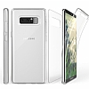 Eiroo Protection Samsung Galaxy Note 8 360 Derece Koruma Şeffaf Silikon Kılıf - Resim 1