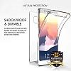 Eiroo Protection Samsung Galaxy Note FE 360 Derece Koruma Şeffaf Silikon Kılıf - Resim 6