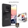 Eiroo Protection Samsung Galaxy Note FE 360 Derece Koruma Şeffaf Silikon Kılıf - Resim 4