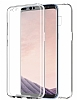 Eiroo Protection Samsung Galaxy S8 360 Derece Koruma Şeffaf Silikon Kılıf - Resim 2