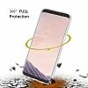 Eiroo Protection Samsung Galaxy S8 360 Derece Koruma Şeffaf Silikon Kılıf - Resim 1