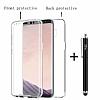 Eiroo Protection Samsung Galaxy S8 360 Derece Koruma Şeffaf Silikon Kılıf - Resim 4
