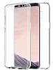 Eiroo Protection Samsung Galaxy S8 Plus 360 Derece Koruma Şeffaf Silikon Kılıf - Resim 1