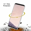Eiroo Protection Samsung Galaxy S8 Plus 360 Derece Koruma Şeffaf Silikon Kılıf - Resim 3