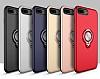 Eiroo Q-Armor iPhone 7 Plus / 8 Plus Selfie Yüzüklü Ultra Koruma Gold Kılıf - Resim 1