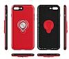 Eiroo Q-Armor iPhone 7 Plus / 8 Plus Selfie Yüzüklü Ultra Koruma Gold Kılıf - Resim 4