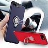 Eiroo Q-Armor iPhone 7 Plus / 8 Plus Selfie Yüzüklü Ultra Koruma Gold Kılıf - Resim 5