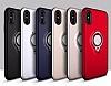 Eiroo Q-Armor iPhone X / XS Selfie Yüzüklü Ultra Koruma Silver Kılıf - Resim 3