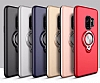 Eiroo Q-Armor Samsung Galaxy S9 Plus Selfie Yüzüklü Ultra Koruma Silver Kılıf - Resim 1