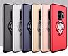 Eiroo Q-Armor Samsung Galaxy S9 Selfie Yüzüklü Ultra Koruma Siyah Kılıf - Resim 4