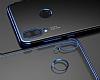 Eiroo Radiant Huawei P20 Lite Kırmızı Kenarlı Şeffaf Silikon Kılıf - Resim 3