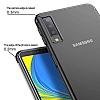 Eiroo Radiant Samsung Galaxy A7 2018 Gold Kenarlı Şeffaf Silikon Kılıf - Resim 2