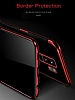 Eiroo Radiant Samsung Galaxy S9 Plus Gold Kenarlı Şeffaf Silikon Kılıf - Resim 2