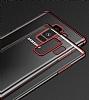 Eiroo Radiant Samsung Galaxy S9 Plus Gold Kenarlı Şeffaf Silikon Kılıf - Resim 3