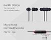 Eiroo Rainbow Siyah Mikrofonlu Kulakiçi Kulaklık - Resim 5