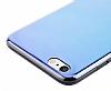 Eiroo Reflection iPhone 6 / 6S Tam Kenar Koruma Mavi Rubber Kılıf - Resim 3