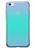 Eiroo Reflection iPhone 6 / 6S Tam Kenar Koruma Mavi Rubber Kılıf - Resim 2