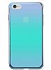 Eiroo Reflection iPhone 7 Tam Kenar Koruma Mavi Rubber Kılıf - Resim 2