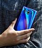 Eiroo Reflection Samsung Galaxy A8 2018 Tam Kenar Koruma Sarı Rubber Kılıf - Resim 1