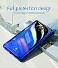 Eiroo Reflection Samsung Galaxy A8 2018 Tam Kenar Koruma Siyah Rubber Kılıf - Resim 3