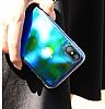 Eiroo Reflection Samsung Galaxy A8 Plus 2018 Tam Kenar Koruma Yeşil Rubber Kılıf - Resim 1