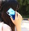Eiroo Reflection Samsung Galaxy A8 Plus 2018 Tam Kenar Koruma Yeşil Rubber Kılıf - Resim 2