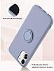 Eiroo Ring Color Samsung Galaxy Note 10 Plus Yüzük Tutuculu Yeşil Silikon Kılıf - Resim 4