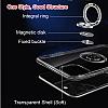 Eiroo Ring Crystal Samsung Galaxy S20 Pembe Yüzüklü Silikon Kılıf - Resim 3