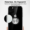 Eiroo Ring Crystal Samsung Galaxy S20 Pembe Yüzüklü Silikon Kılıf - Resim 1