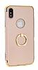 Eiroo Ring Fit iPhone X Selfie Yüzüklü Gold Rubber Kılıf - Resim 5