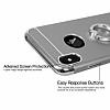 Eiroo Ring Fit iPhone X Selfie Yüzüklü Lacivert Rubber Kılıf - Resim 3