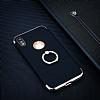 Eiroo Ring Fit iPhone X Selfie Yüzüklü Lacivert Rubber Kılıf - Resim 1