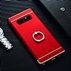 Eiroo Ring Fit Samsung Galaxy Note 8 Selfie Yüzüklü Kırmızı Rubber Kılıf - Resim 5