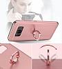 Eiroo Ring Fit Samsung Galaxy Note 8 Selfie Yüzüklü Silver Rubber Kılıf - Resim 3