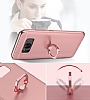 Eiroo Ring Fit Samsung Galaxy Note 8 Selfie Yüzüklü Kırmızı Rubber Kılıf - Resim 3