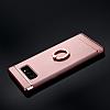 Eiroo Ring Fit Samsung Galaxy Note 8 Selfie Yüzüklü Silver Rubber Kılıf - Resim 5
