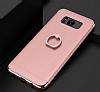 Eiroo Ring Fit Samsung Galaxy Note 8 Selfie Yüzüklü Rose Gold Rubber Kılıf - Resim 6